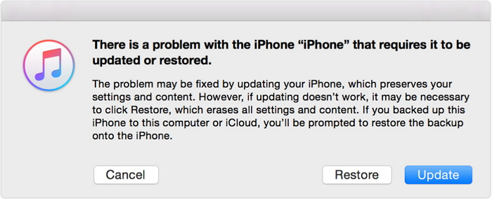 restore iphone without passcode
