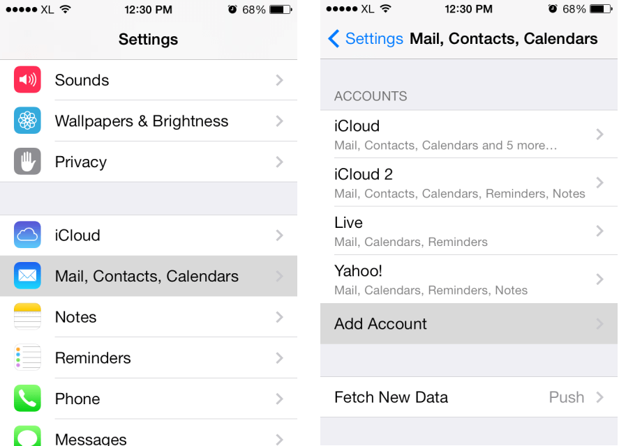 how to delete email address from gmail on iphone