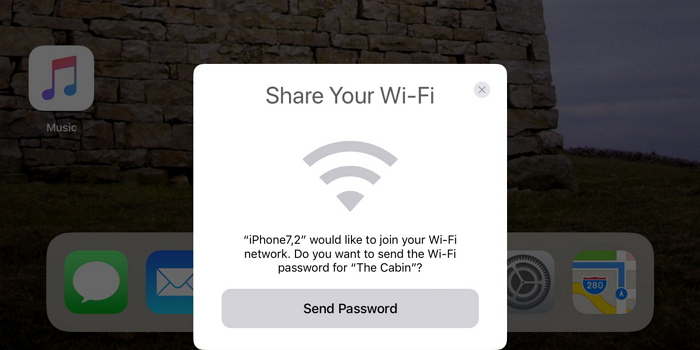 Wi-Fi sharing in iOS 11