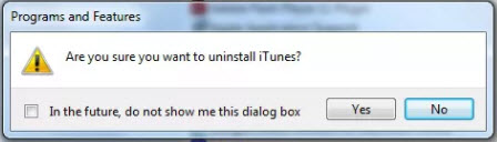 uninstall iTunes