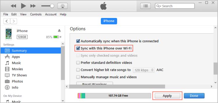 Turn On Wifi Sync