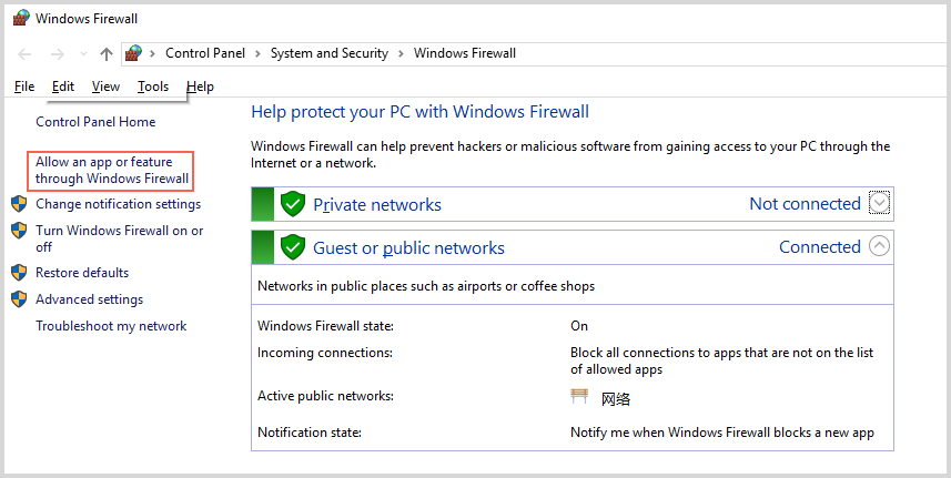 allow itunes in Windows firewall