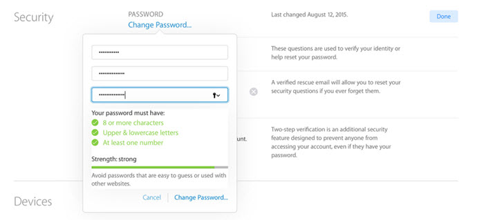 Recovering your Password
