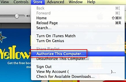Re-Authorize iTunes