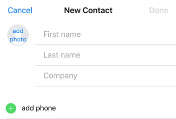create a new contact