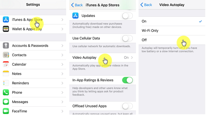 Stop Auto-Play Videos in App Store