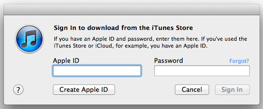 log in iTunes