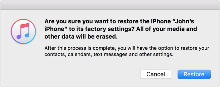 restore iphone to factory settings