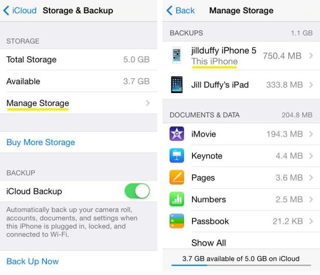 manage iPhone storage