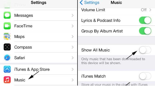 how to delete all undownloaded music from iphone