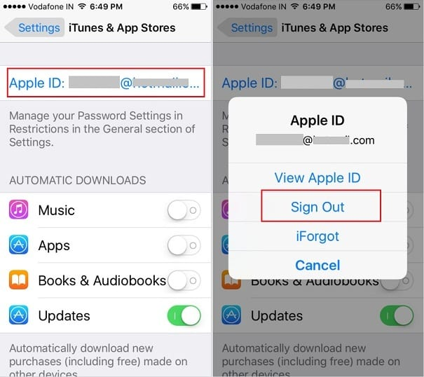How to delete account from app store