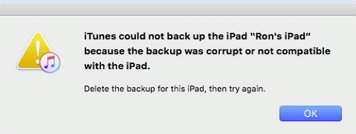 """Backup Corrupt or incompatible"