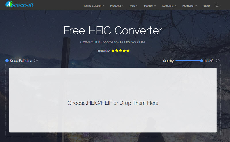 Apowersoft Free HEIC to JPG Converter