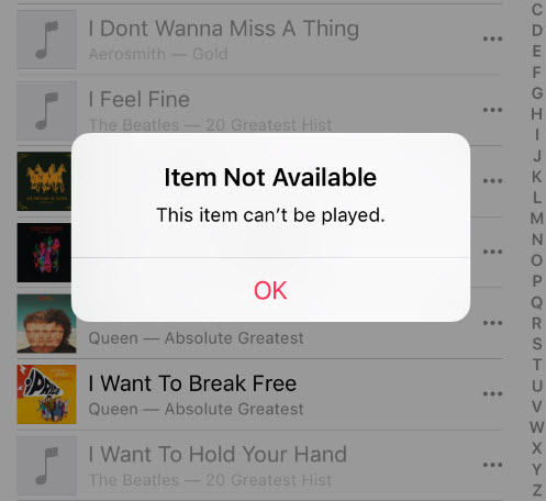 apple music wno't play