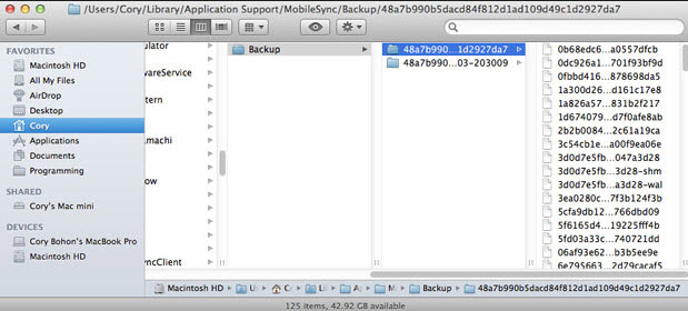 itunes backup mac