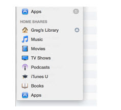 Home Sharing to transfer iTunes library from one computer to another