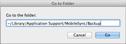 iTunes Backup Location on Mac