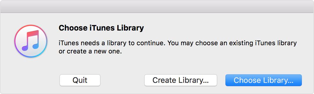 restore iTunes library