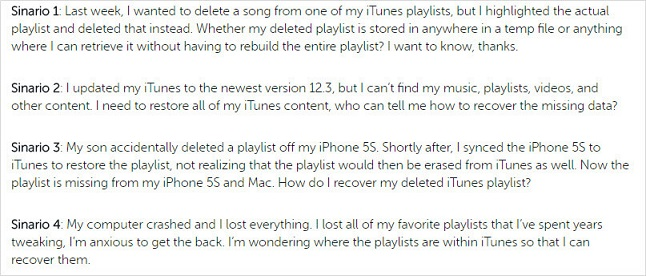 lost iTunes playlists