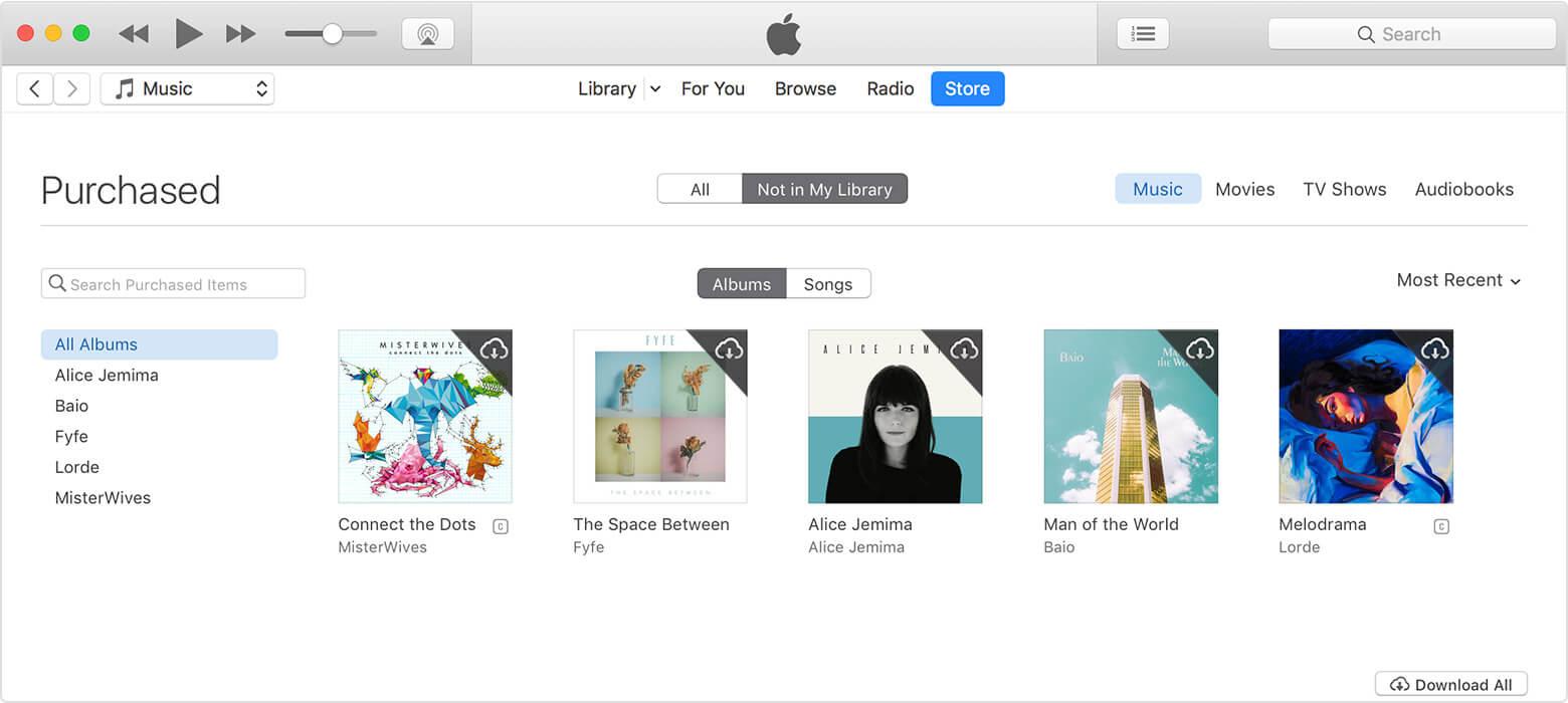 redownload music pc/mac