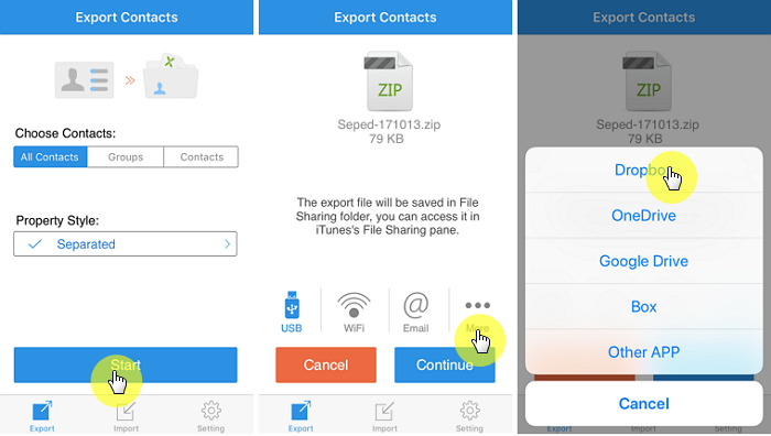 Make an Excel XLS file of Contacts on Your iPhone