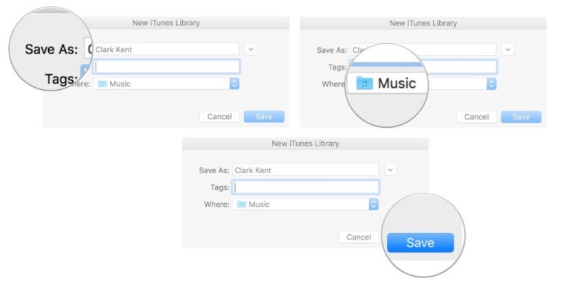 create a separate iTunes library