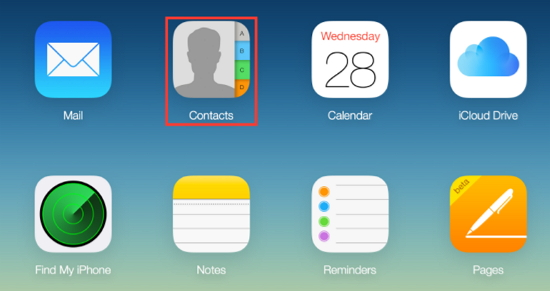 view icloud contact