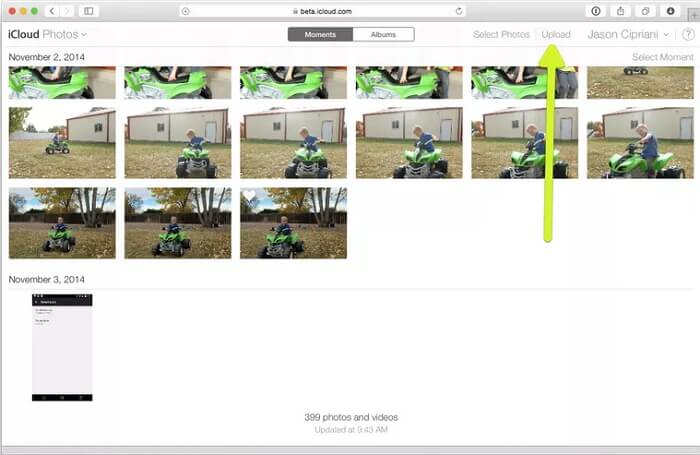 view icloud photos online