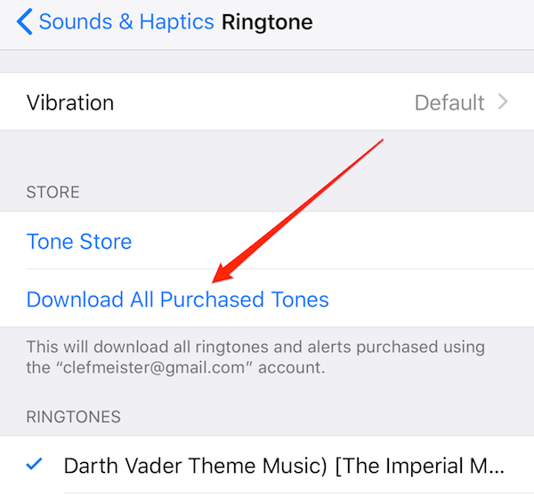 download purchased ringtones