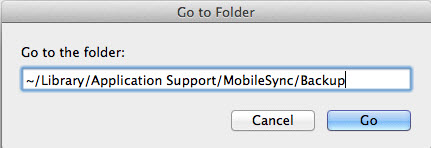 iTunes backup mac