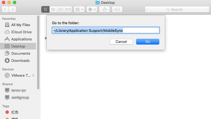 open iTunes backup folder