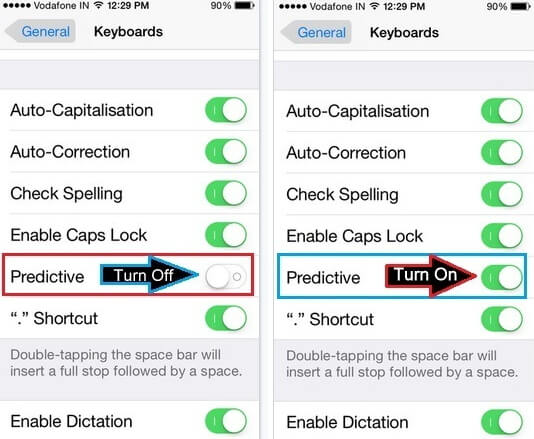 turn-predictive-setting-off-on