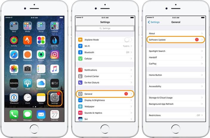 Update iOS on iPhone 8