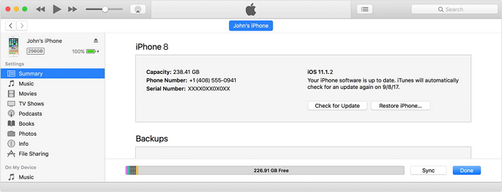 update iPhone using iTunes