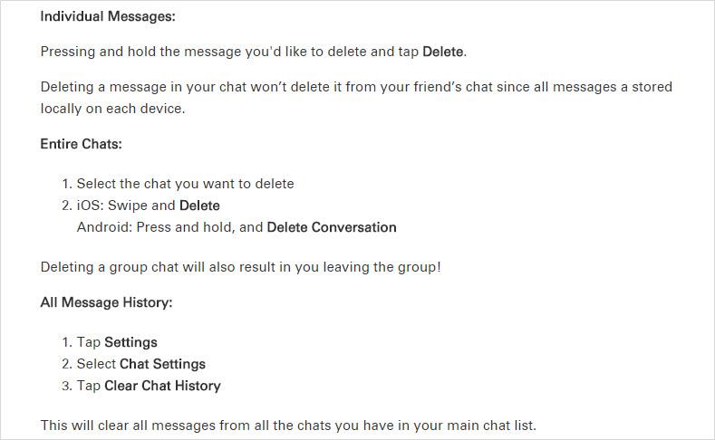 delete Kik chats