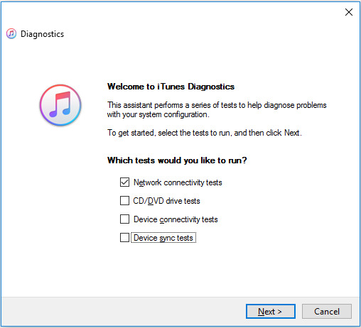 iTunes-Diagnostics