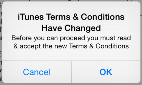 Terms & Conditions of iTunes