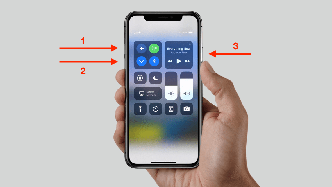 restart your iPhone X