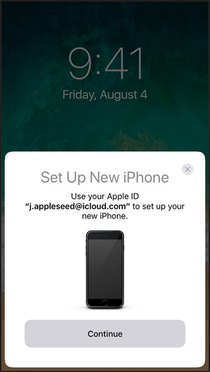 set up iPhone using quick start