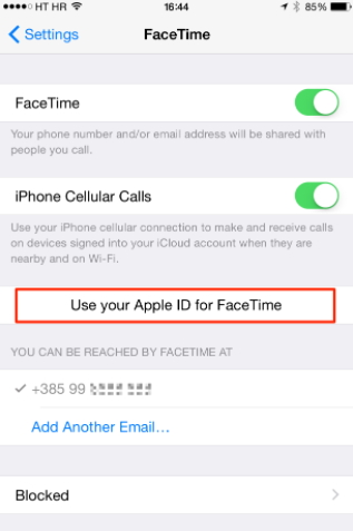 check facetime account