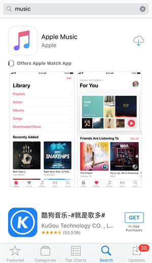 install Music app