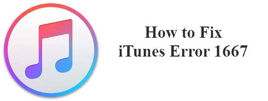 iTunes error 1667