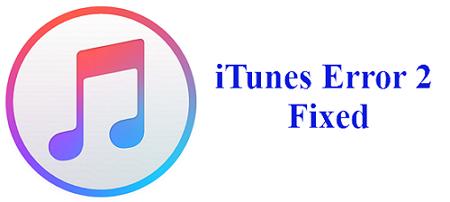 iTunes error 2