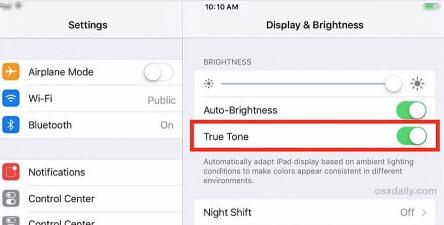 turn off true tone