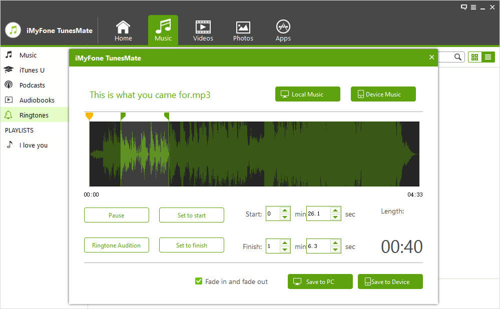 TunesMate screenshot