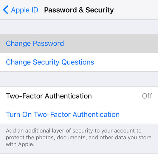 Appleid-Password-Security