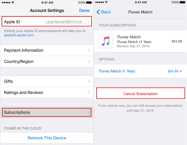 How do i turn off itunes match