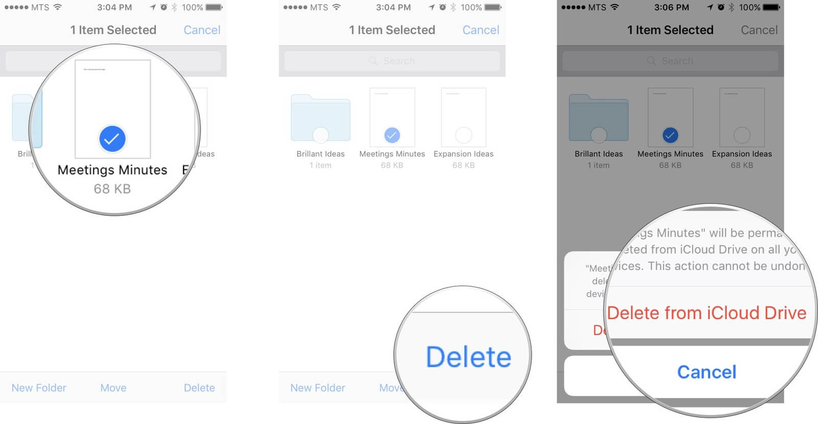 Delete Unwanted Files from iCloud