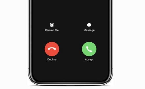 iPhone incoming calls display