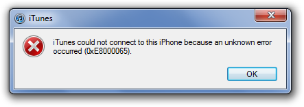 iTunes cannot connect to iPhone